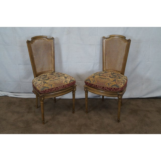 French Louis XVI Caned Dining Chairs - Set of 6 - Image 2 of 10