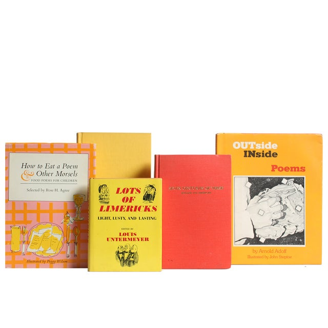 Image of Vintage Sunset Poetry Books - Set of 17