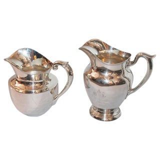 Pair of Sterling Silver Large Water Pitchers