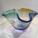 Image of Vintage Signed Art Glass Bowl