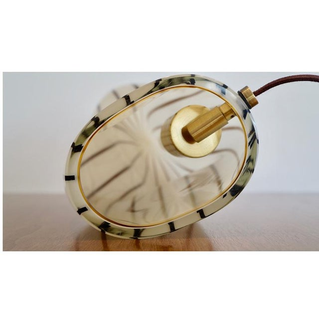 Striped Murano Italian Art Glass Lamp - Image 7 of 8