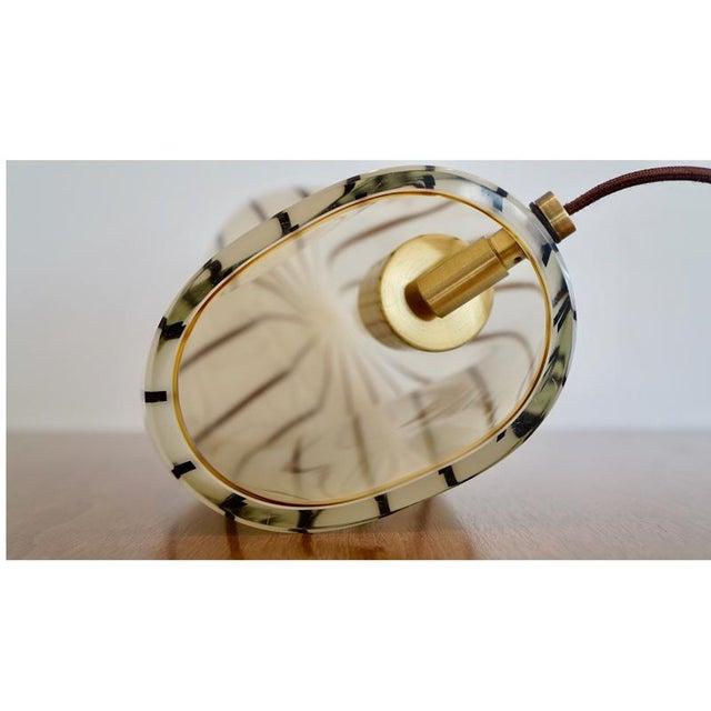 Image of Striped Murano Italian Art Glass Lamp