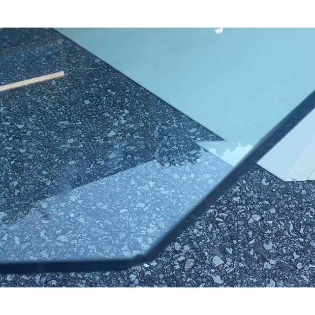 Late 20th Century Cantelevered Glass & Laquer Coffee Table - Image 6 of 6