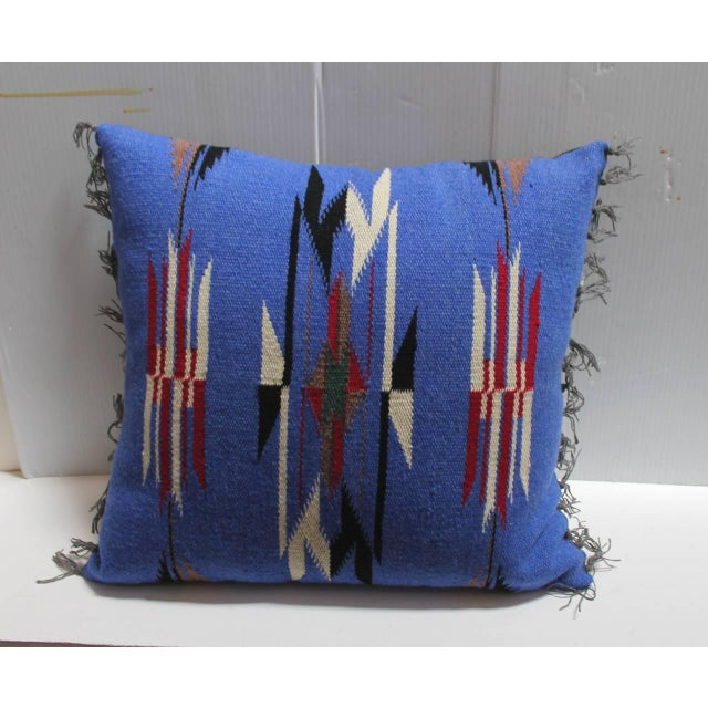 Pair of Mexican-American Chimayo Indian Weaving Pillows - Image 3 of 4
