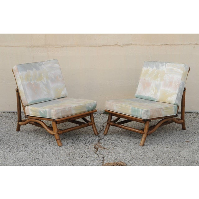 Mid Century Ficks Reed Rattan Tiki Sofa Set - Set of 5 - Image 4 of 11