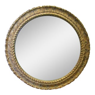 Round LeBarge Carved Giltwood Mirror
