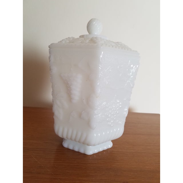Anchor Hocking White Milk Glass Jar - Image 3 of 3
