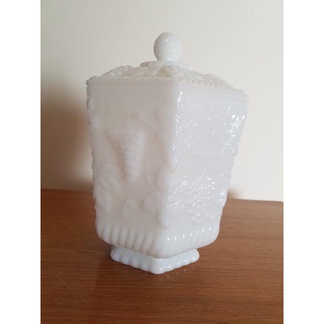 Image of Anchor Hocking White Milk Glass Jar