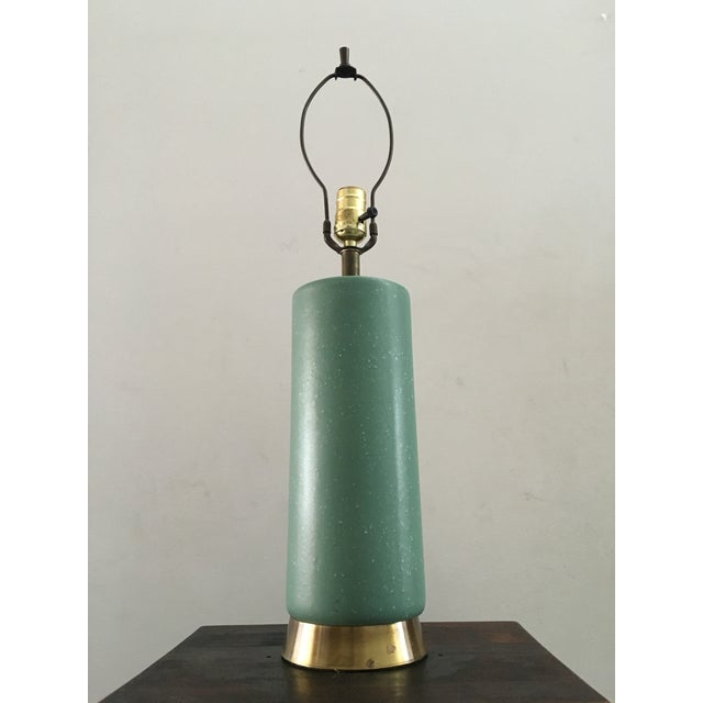 Mid-Century Turquoise Ceramic Table Lamp - Image 8 of 8