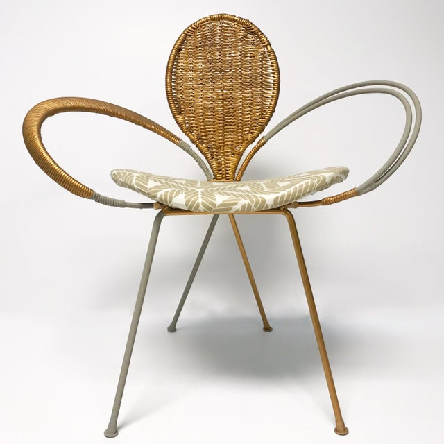 Wrought Iron Accent Chair - Image 9 of 10