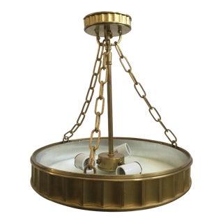 Contemporary Sunset Brass Pendant