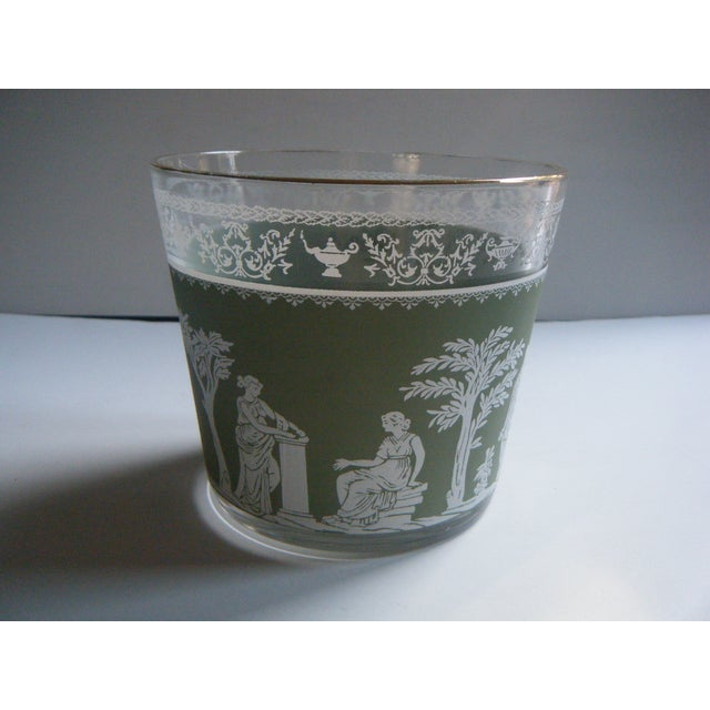 Vintage Jeanette Wedgwood Green Bar Ice Bucket - Image 3 of 5