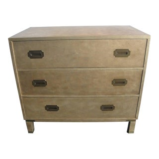Campaign Style Gold Leafed Chest of Drawers by Baker