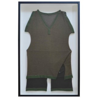 Framed Vintage Wool Male Swimsuit
