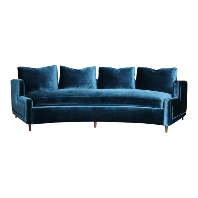 Pierre Curved Velvet Sofa - Image 1 of 4