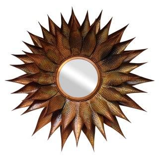 Copper Sunburst Mirror