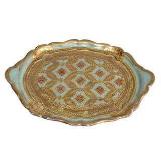 Florentine Gilt Wood Handcrafted Tray