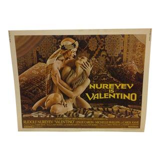 "Vintage Movie Poster ""Nureyev is Valentino"" 1977"
