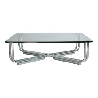 Steel Tubular Cocktail Table by Gianfranco Frattini for Cassina
