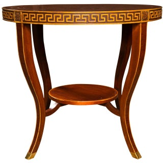 Jansen Regency Rosewood Gueridon Center Table