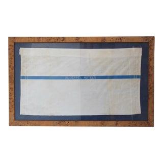 Framed Kloeppel Hotels Towel Textile Art