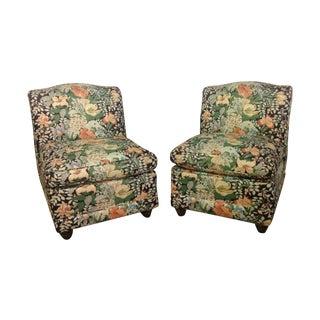 Vintage Chintz Slipper Chairs