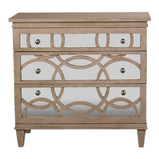 Sarreid Ltd. Washed Gray Virna Mirrored Chest