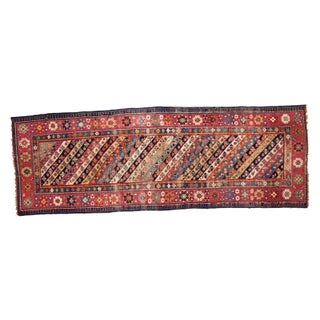 "Antique Caucasian Rug Runner - 3'4"" x 9'6"""