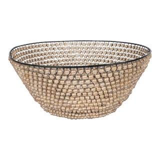 Modernist Basket with an Abundance of Translucent Beads by Kim Seybert