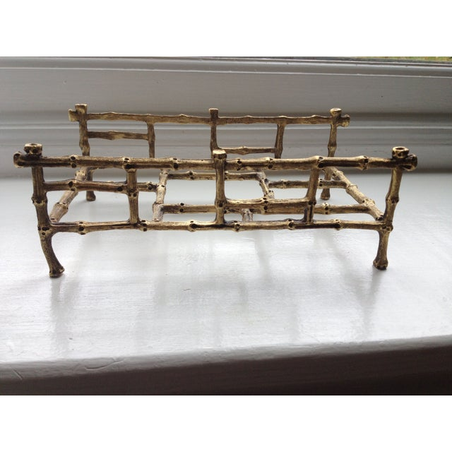 Gilded Bamboo Towel or Napkin Holder - Image 2 of 4