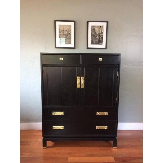 Black Solid Wood Dresser Tallboy Chest - Image 2 of 9