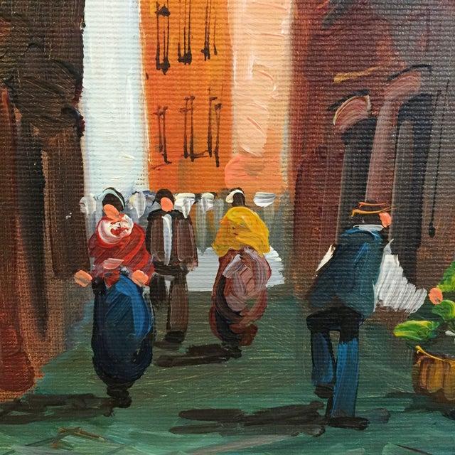 """Roma"" Vintage 1985 Original Oil Painting - Image 5 of 6"