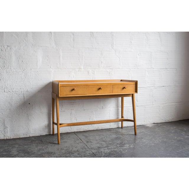 Heals Three Drawer Oak Vanity Desk - Image 3 of 8