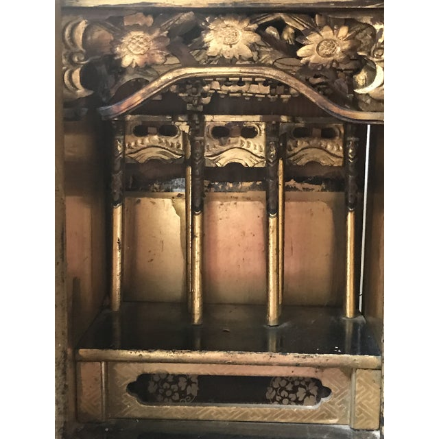 Antique Japanese Black Temple - Image 6 of 8