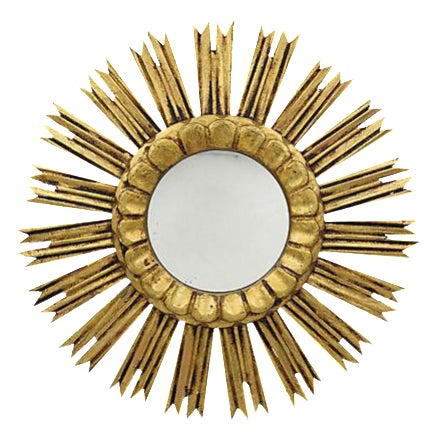 Mid-Century French Sunburst Mirror - Image 1 of 2