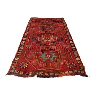 Vintage Hand Knotted Turkish Rug - 5′3″ × 10′5″