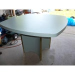 Image of Mid-Century Modern Blue Formica Dining Table