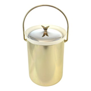 Mid-Century Modern Gold Finish Ice Bucket