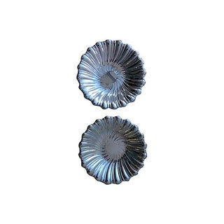 Exquisite Scalloped Silverplated Bowls - A Pair