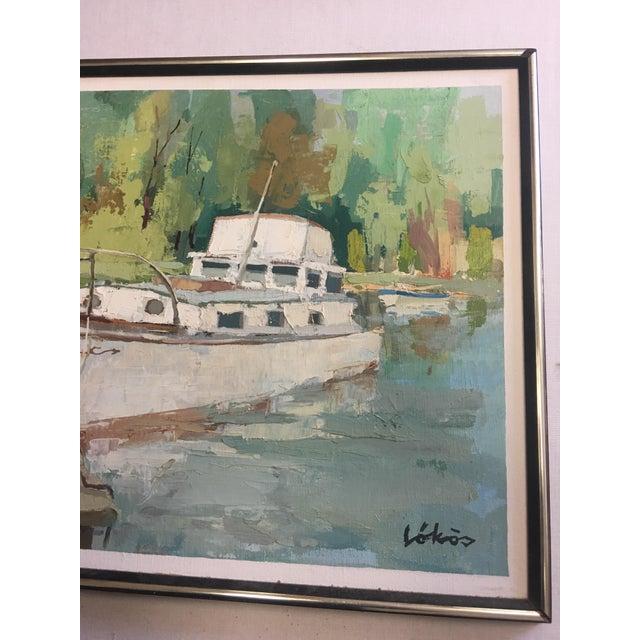 Stefan Lokos Boat At the Marina Painting - Image 5 of 11