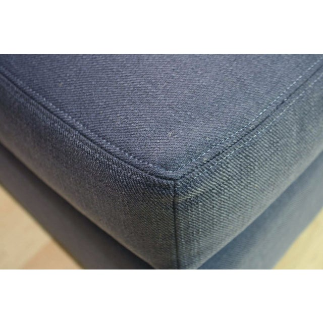 McGuire Copa Navy Blue Ottoman - Image 3 of 3