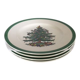 "Spode ""Christmas Tree"" Salad Plates - Set of 4"