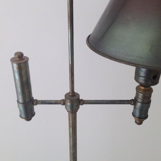 Image of Bronze Colored Tole Floor Lamp