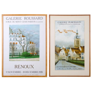 André Renoux Paris, France and Belgian Exhibition Posters - A Pair