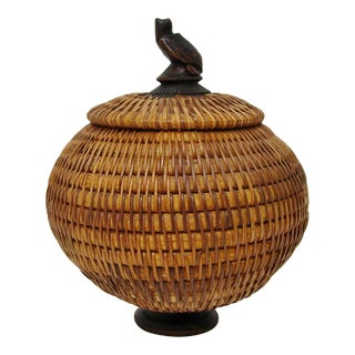 Woven Fiber Lidded Container
