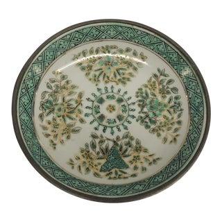 Vintage Japanese Green Decorative Ceramic Plate