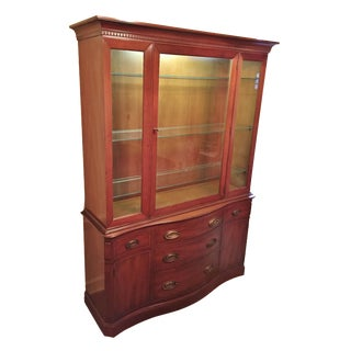 Henredon Heritage Regency Style Lighted China Cabinet