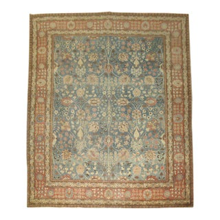 19th Century Denim Blue Persian Tabriz Rug, 9'9'' x 12'7''