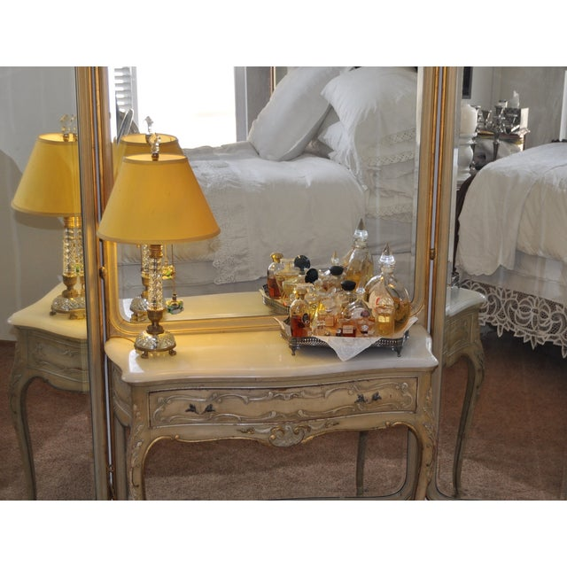 Vintage 1920s French Louis XV Style Vanity - Image 4 of 11