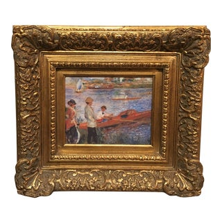 "Impressionist Framed ""Boating Party"" Painting"